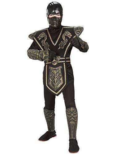 Skull Warrior Ninja Child Costume Gold -