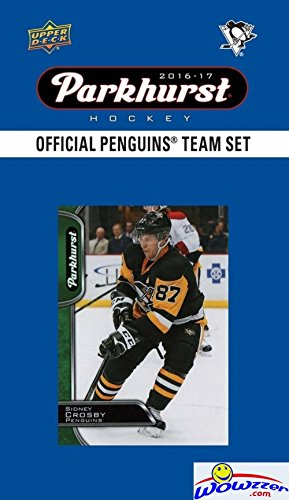 Pittsburgh Penquins 2016/2017 Upper Deck Parkhurst NHL Hockey EXCLUSIVE Limited Edition Factory Sealed 10 Card Team Set including Sidney Crosby Evgeni Malkin, Phil Kessel & all the Top Stars! (Parkhurst Hockey Card)