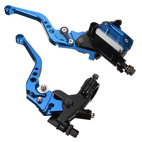 "Lisyline Universal Motorcycle 7/8"" 22mm Handlebar Brake Master Cylinder Clutch Lever Left & Right Set for Harley Honda Kawasaki Suzuki Yamaha (Blue)"