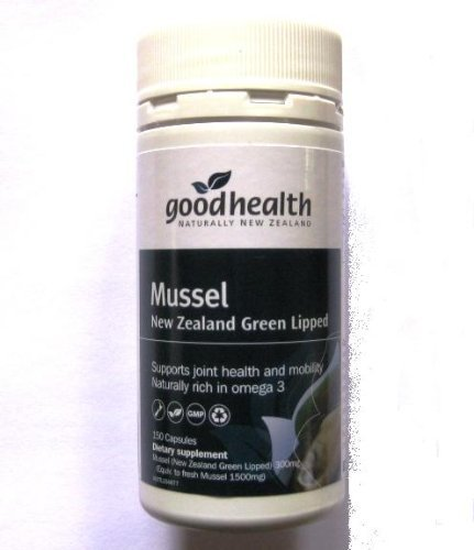 Mussel New Zealand Green Lipped Natural Dietary Supplement Rich in Omega 3 for Joint Health and Mobility, Good Health's Product