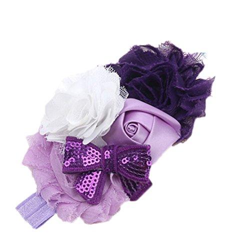 ensunpal store(TM) Baby Girls Rose Sequins Bow-knot Headwear Flower Headband
