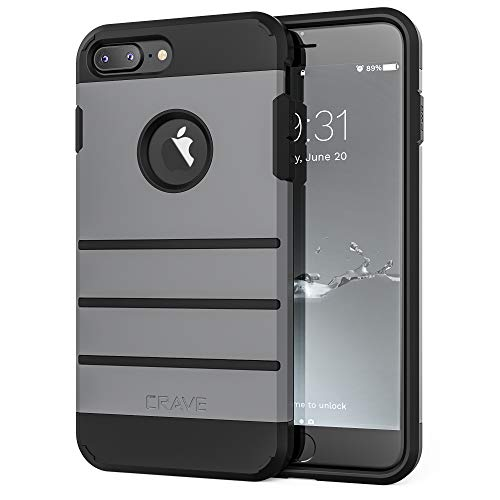 iPhone 8 Plus Case, iPhone 7 Plus Case, Crave Strong Guard Protection  Series Case for Apple iPhone 8/7 Plus (5 5 Inch) - Slate