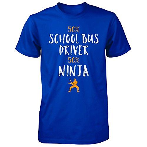 50% School Bus Driver 50% Ninja Awesome Gift - Unisex Tshirt