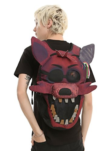 Five Nights At Freddys 3D Foxy Big Face Backpack Licensed