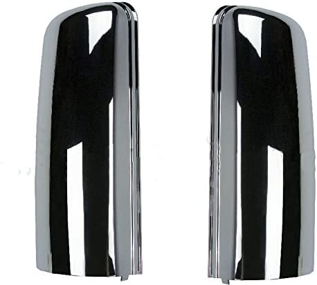 Chrome Door Mirror Cover Set Pair for 2008-2017 Freightliner Cascadia Truck TR038-L TR038-R