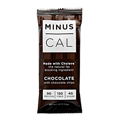 MinusCal All Natural Fat-Blocking Meal Bar – Chocolate (Box of 12)