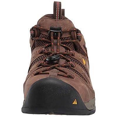 KEEN Utility Men's Atlanta Cool II Low Steel Toe Construction Shoe, Shiitake/Rust, 9.5D US: Shoes