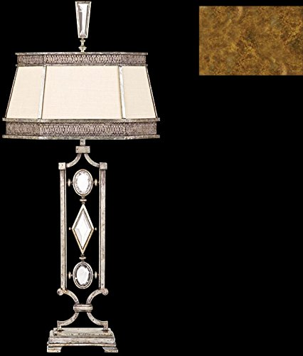 Fine Art Lamps 730310-3, Encased Gems 3 Way Crystal Table Lamp, 1 Light, 18 Watts, Gold Leaf