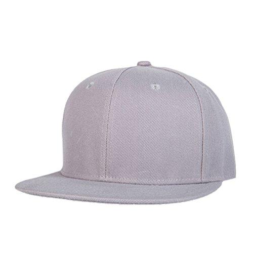 Hats Gorras Baseball LINNUO Plano Clásico Hats Hip Sombrero Hop Béisbol Unisex Accesorios Cap de Snapback Gris UYwnOHqw1