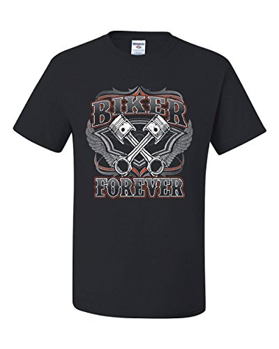 Biker Forever T-Shirt Chopper Bobber Motorcycle MC Route 66 Tee Shirt Black M - Choppers Forever Black T-shirt