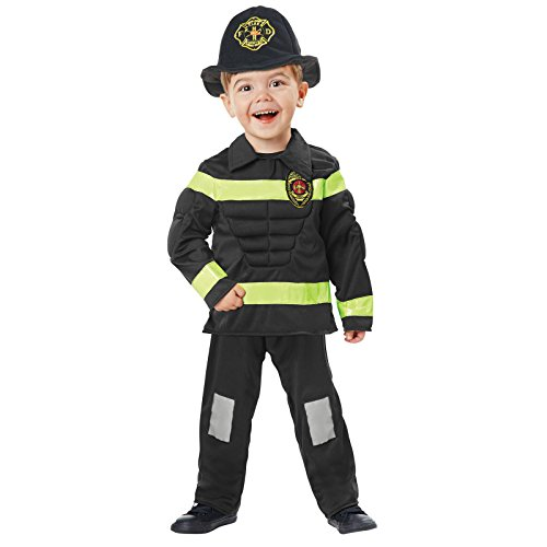 2t Fireman Costume (Totally Ghoul Muscle Fireman Costume, Size: Toddler, 2t - 4t)