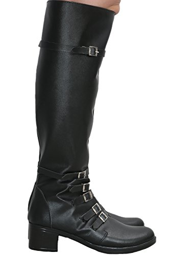 Scarlet Witch Black PU Knee-high Boots Shoes Costume Cosplay Prop Female US8.5 by Hotwinds (Image #6)