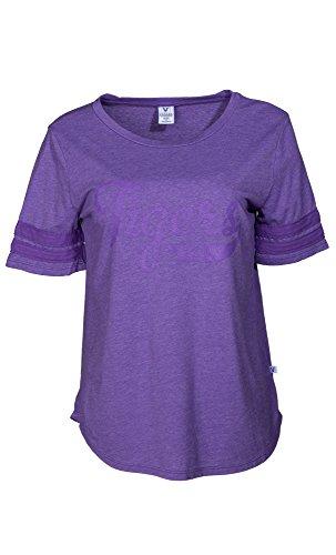 Lsu Tigers Striped Shirt - NCAA LSU Tigers Fay Women's Short Sleeve Tri-Blend Jersey Tee with Striped Sleeves, Medium, Tiger Purple
