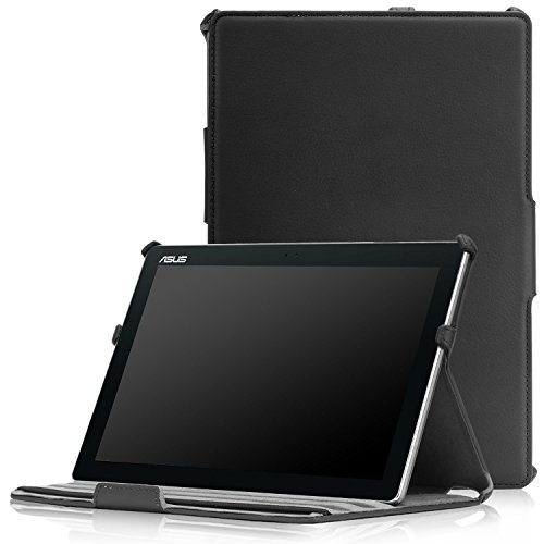 MoKo ASUS ZenPad 10 Case - Multi-Angle Slim Fit Smart Stand Cover with Auto Wake/Sleep Function for ASUS ZenPad 10 Z300C / Z300M / Z301M / Z301ML / Z301MFL 10.1-Inch Tablet, Black