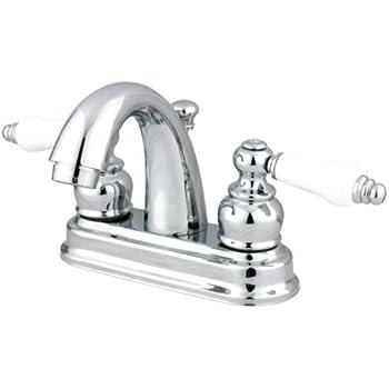 Kingston Brass KB5611PL Restoration 4-Inch Centerset Lavatory Faucet, Polished Chrome