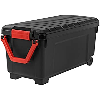 IRIS 250080Store-It-All Tote with Handle, 43 gallons,Black