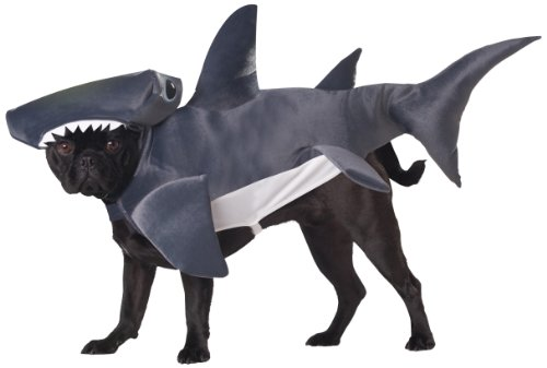 Dog Shark Costume Fin (Animal Planet PET20107 Hammerhead Shark Dog Costume, X-Small)