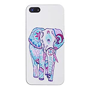 TOPMM Elephants Pattern Black Frame PC Hard Case for iPhone 5/5S
