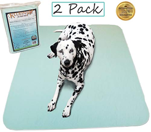 Kluein Pet Washable Pee Pads for Dogs, Washable Puppy Pads, 2-Pack XXL (36x41) Waterproof Potty Pads, Whelping Pads, Pet Pen, Travel, Dog Training - Toilet New Pet Dog