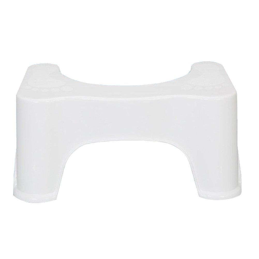 Wgwioo Bathroom Toilet Stool Step Plastic Non Slip Squatting Sit Stool Adult Bench Footstool
