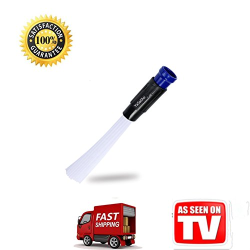 Vacuum Attachment As Seen On TV,Cleaner Brush,Universal Dirt Removers,Strong Suction for Air Vents,Corners,Keyboards,Drawers,Car,Tools,Plants (Car Plastic Cleaner As Seen On Tv)