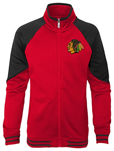 - Outerstuff NHL Chicago Blackhawks Youth Girls Faceoff Full Zip Jacket, X-Large(16), Red
