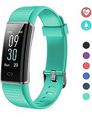 EFO SHM Fitness Tracker mit Pulsmesser, Schrittzähler Uhr Fitness Armband Wasserdicht Schwimmen Aktivitätstracker Schlafanalyse Kalorienzähler Anruf/SMS Kompatibel mit iPhone und Android