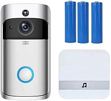 720P Smart Wireless  Night Vision Doorbell Phone with Indoor Doorbell Receive X