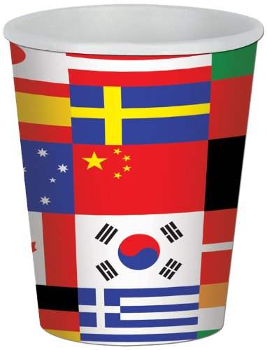 Beistle International Flag Cup 8cups,9 oz.