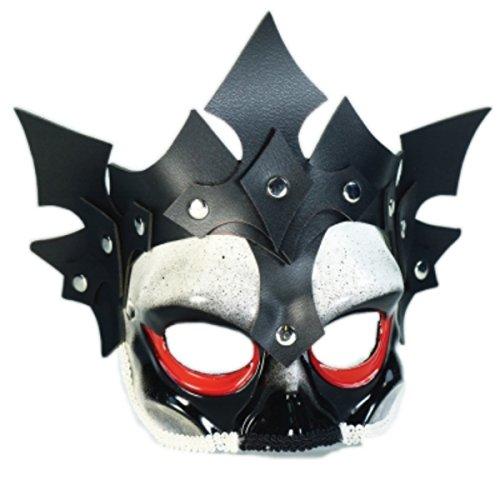 Crowned Viking Skull Mask on Eyeglass - Mask Viking Skull