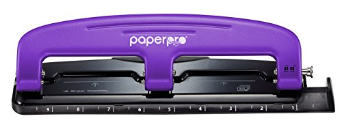 PaperPro inPRESS 12 Reduced Effort 3-Hole Punch, 12 Sheets, Purple (2105)