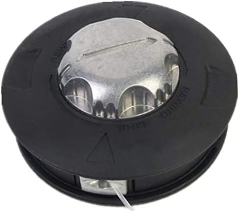 Tamkyo CortacéSped de Aluminio y Nylon Universal M10 Carrete de Golpe CortacéSped 2 LíNeas de Cabezal de Corte Hilo Hilo LíNea Sierra CortacéSped de CéSped