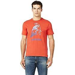 Automobili Lamborghini Mens Big Bull T-shirt Xl Orange