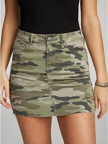 G By Guess Quincy Raw-Hem Denim Skirt