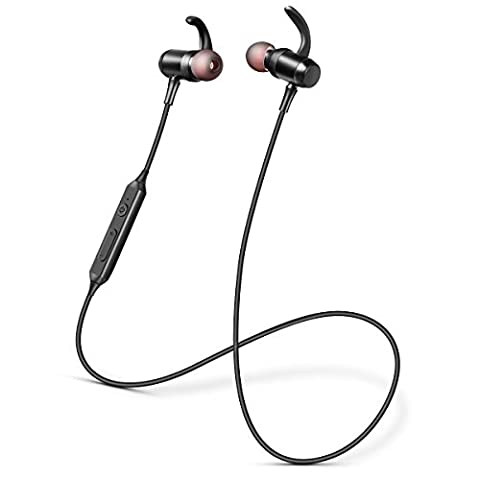 Bluetooth aptX Headphones Stereo sound Ansot M5 In-Ear Sport headset Magnetic Deep Bass Ear-Buds with (Bluetooth Headset With Ear Buds)