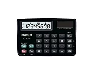 Casio SL-787TV - Calculadora (bolsillo, Mostrar, Negro, 30g, 91,5 x 58 x 6,3 mm)