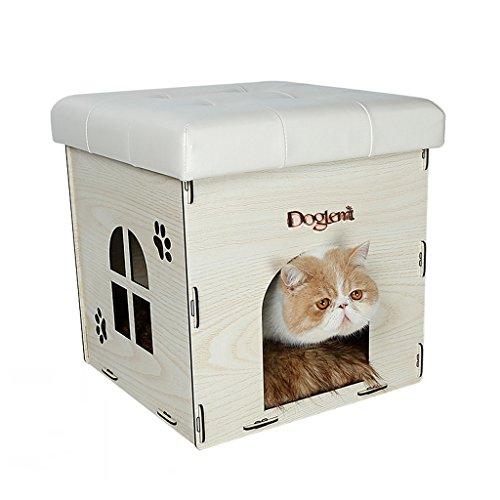 CHONGWFS Four Seasons Cat Litter Cat House se puede almacenar desmontable Pet Nests se puede utilizar como un hogar de ocio...