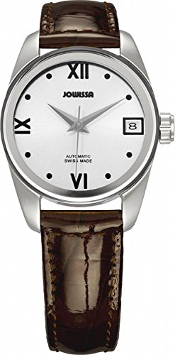 Carlo Leather Monte Watch (Jowissa Women's J4.054.M Monte Carlo Stainless Steel Silver Dial Brown Leather Automatic Date Watch)