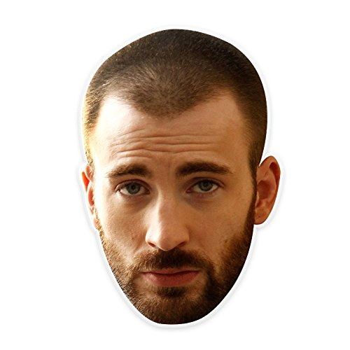 Angry Chris Evans Mask, Perfect for Halloween, Masquerades, Parties, Festivals, Concerts - Jumbo Size Waterproof -