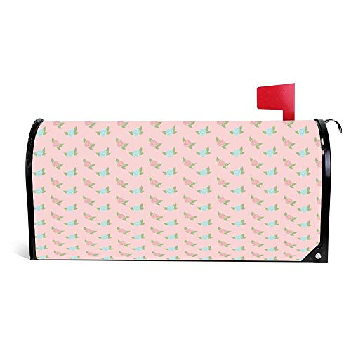 """DKISEE Magnetic Mailbox Cover Colorful Pink Princesses Mailbox Wraps Post Letter Box Cover 21"""" x 25.5"""""""