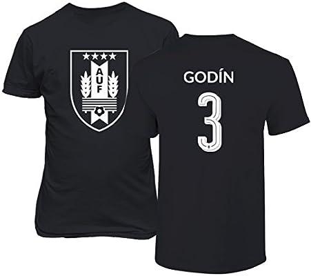 Tcamp Uruguay 2018 National Soccer  3 Diego GODIN World Championship Men s  T-Shirt ( dca31c7f9