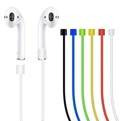 Arpoador correa para Apple Airpods auricular banda multicolor Auriculares Auriculares Cable de alambre conector Random Delivery
