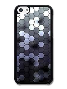 Hexagonal Hive Pattern in Black and White carcasa de iPhone 5C