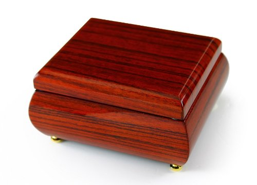 Astonishing Hi Gloss Wood Tone Petite Music Box - Over 400 Song Choices - Reich Mir Die Hand Mein Laben SWISS (Box Wood Mira)