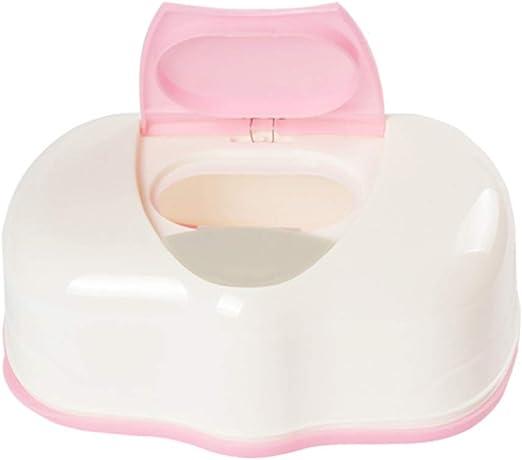 TOPBATHY Pequeña Cajita para Toallitas Húmedas Caja de Plástico para Toallitas Húmedas de Bebé (Rosa): Amazon.es: Hogar