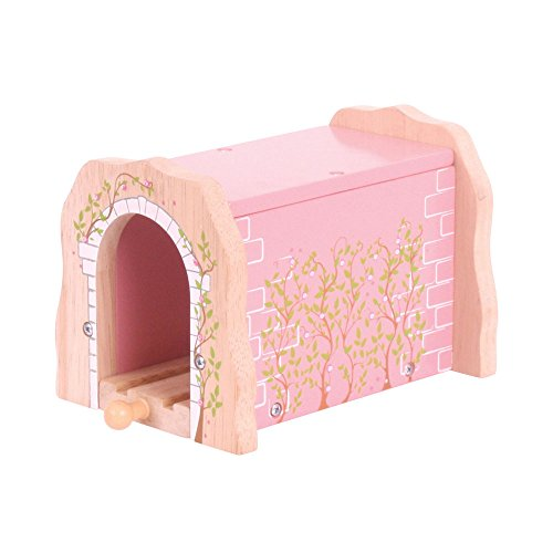 Bigjigs Rail Pink Brick Tunnel - Other Major Wooden Rail Brands are -