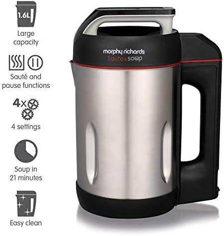 Morphy Richards 501014 1.6L licuadora y máquina para hacer sopa ...