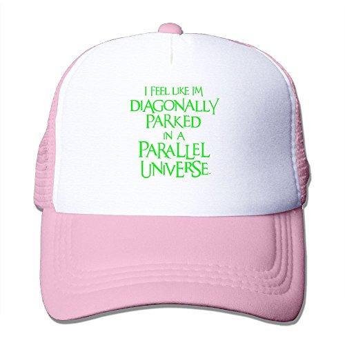 XiaoHans Mens Diagonally Parked, Neongreen Fashion Basketball Pink Mesh Caps Adjustable Snapback
