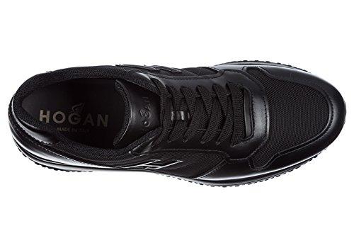 Hogan Herresko Herre Lædersko Sneakers Interaktiv N20 H 3d Sort ADq4bmlCGA