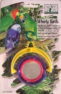 whirly birds plastic spinner toy with mirror bird toy pet supplies. Black Bedroom Furniture Sets. Home Design Ideas